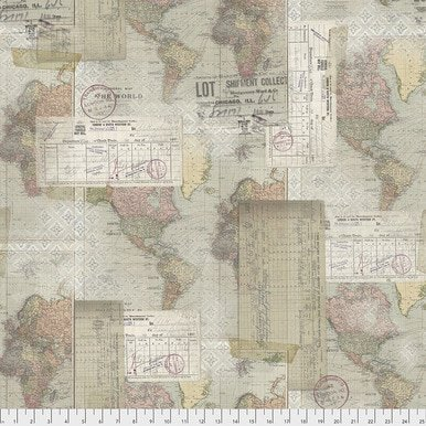 Tim Holtz - Foundations -Word Map- Neutral PWTH103 Multi