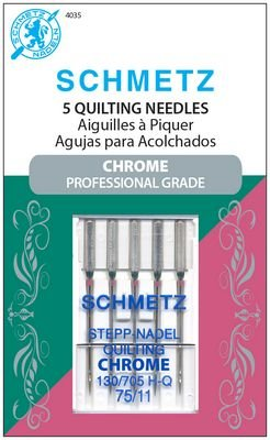 #4035 Schmetz Machine Needle Chrome Quilting 5-pk Sz 75/11