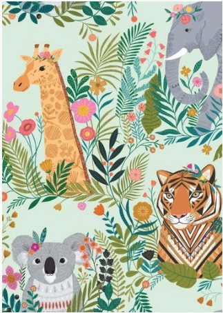Our Planet by Dashwood Studio Teal Animals PLAN1731