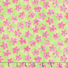Whimsy Daisical Small Daisies B1432-70 Green