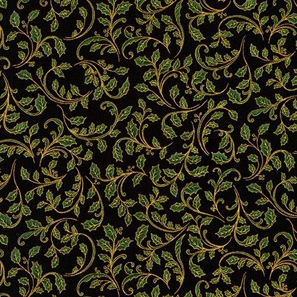 Winter's Grandeur Metallic SRKM-18382-2 Twigs Black