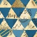 Wish  Collage Triangle Blue 51743M-3