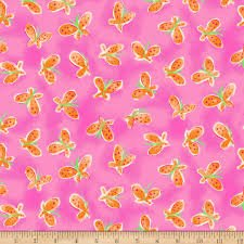 Whimsy Daisical Butterflies B1430-22 Pink