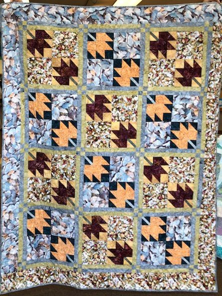 Fallen Leaves Pattern Party Quilt Kit