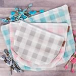 Gingham on the Go Its Sew Emma 3 Piece Project Bag Set