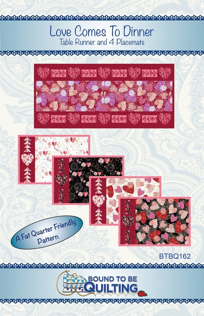 Love Comes To Dinner Runner & Placemats Kit