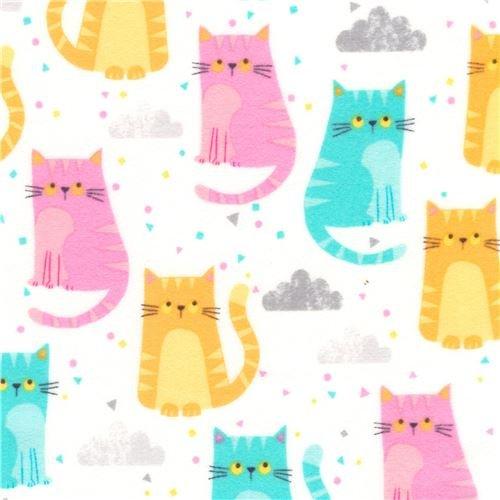 Cuddly Kittens 2 Flannel - AWYF-18118-239 Sorbet