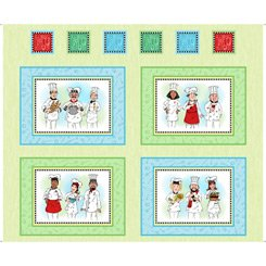 Chef's Special-36 Panel Chef's Picture Patches-Light Green 27638-H