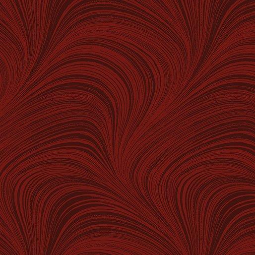 Wide Wave Texture Dark Red 2966W-19 108 Wide