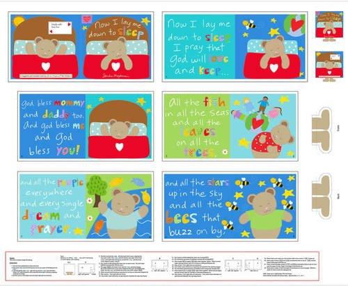 Hug and Love VI 36 Sleep Book Panel Multi 4612P-1