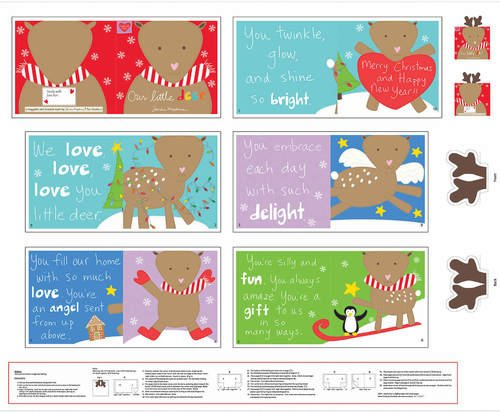 Huggable and Loveable Book VII 4674P-1 Multi 36 Panel Holiday Book Merry Christmas and Happy New Year