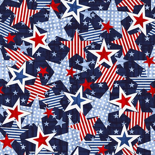 Truckin in the USA 5003-77 Navy Large Star