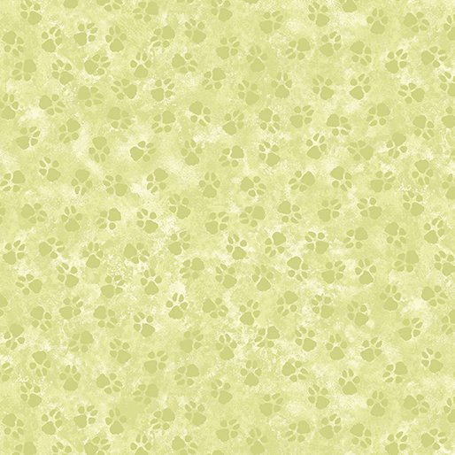 Dog On It Paw Prints Light Green 6258-42