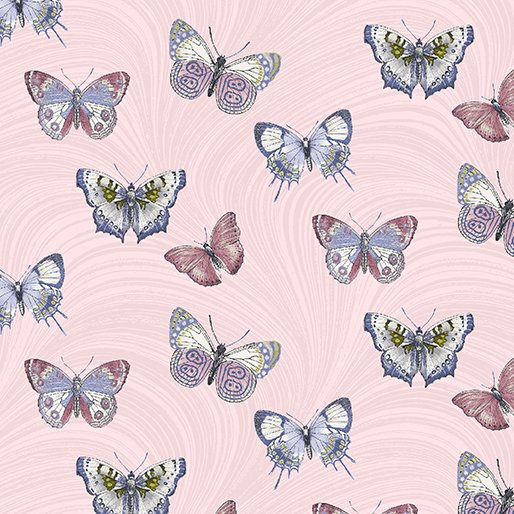 Light Pink Butterfly Wave Pearlescent (Totally Tulips) 6733P-01 Light Pink