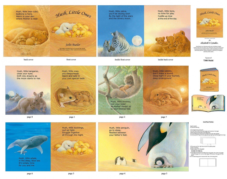 Hush Little Ones 36 Book Panel 7308 Multi