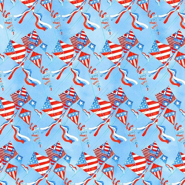 Star Spangled Summer Flying Kites 9035-11 Blue