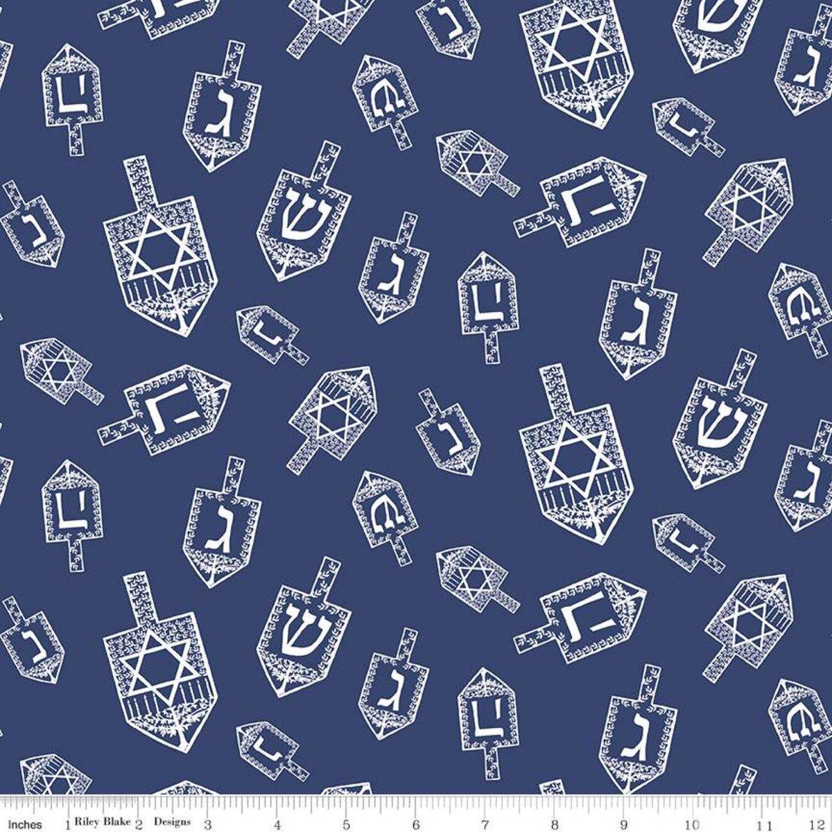Cotton Designer Festival of Lights Deridel Toss Blue C9650-Blue