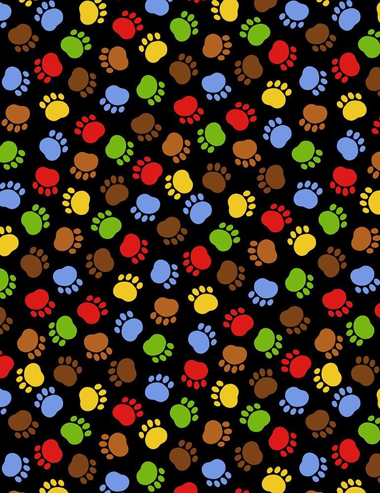 Dog Paw Prints C7210 Black