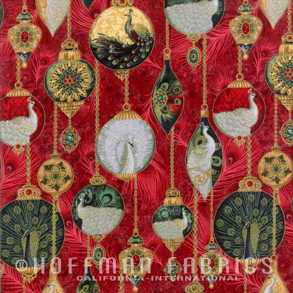 Peacock Ornaments M7482-231G Garnet/Gold