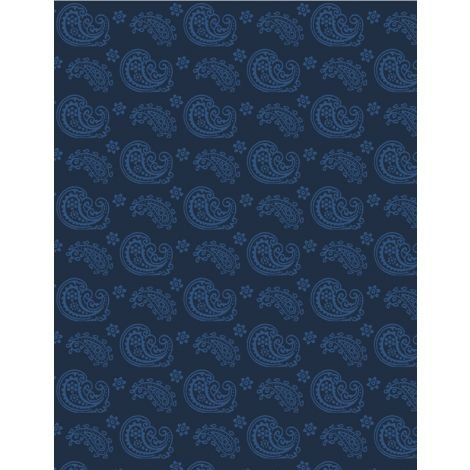 Essentials 39085-444 Blue Paisley