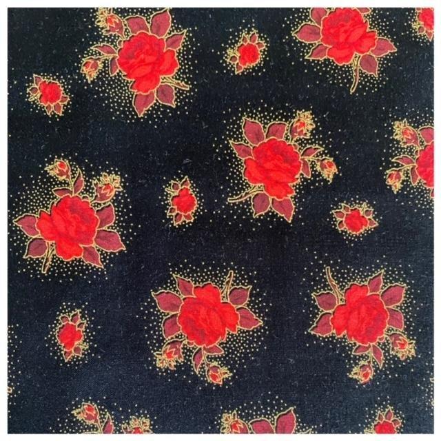 Season's Greetings 3544G-12B Small Flower Black
