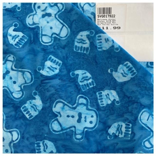 Balinese Winter Wishes 4219-507 Gingerbread Men Lt.Blue