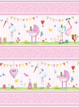 A Bundle of Pink Border Stripe