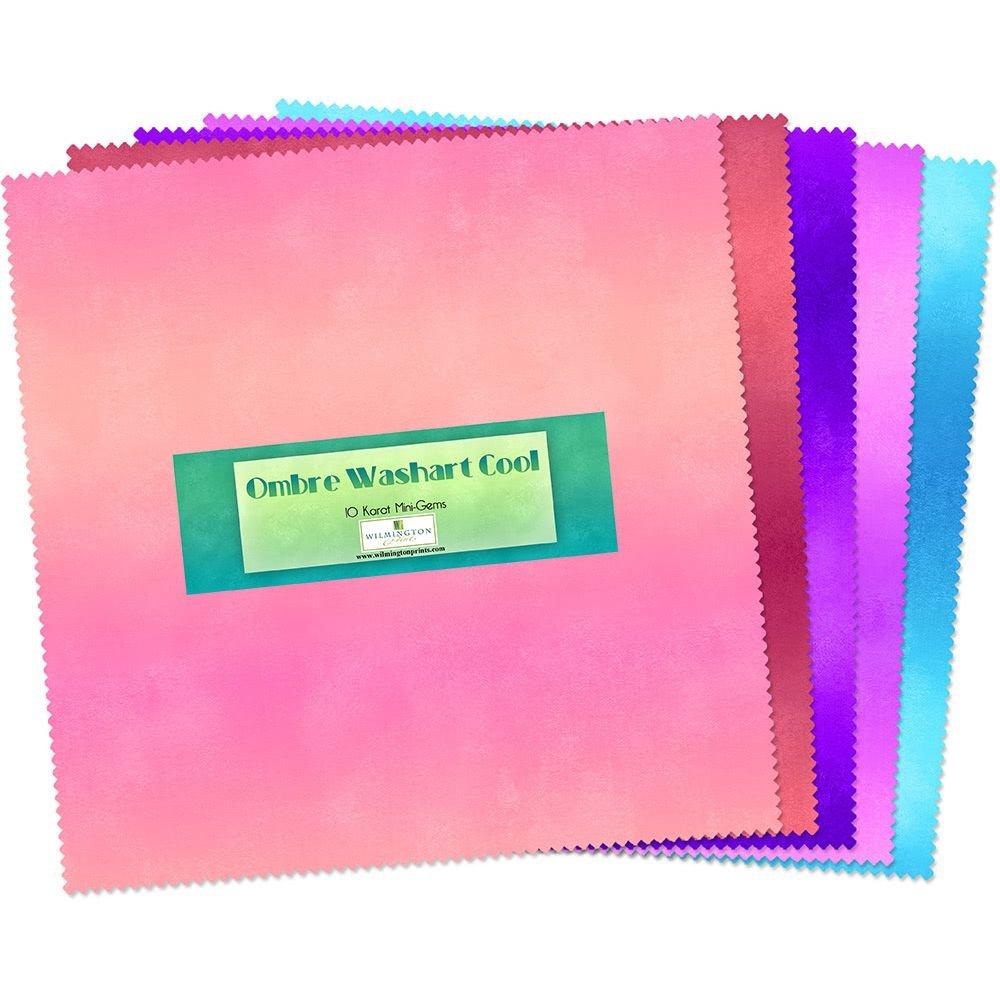 10in Squares Ombre Washart Cool 24 pcs