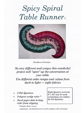 Spicy Spiral Table Runner Pattern