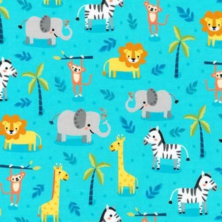 Safari Soiree Animals Aqua