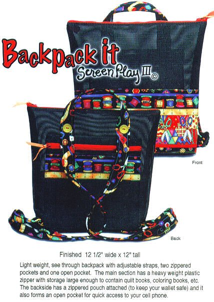 Backpack It - Screen Play III