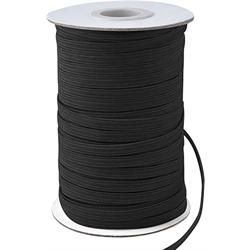 1/4  elastic black per meter