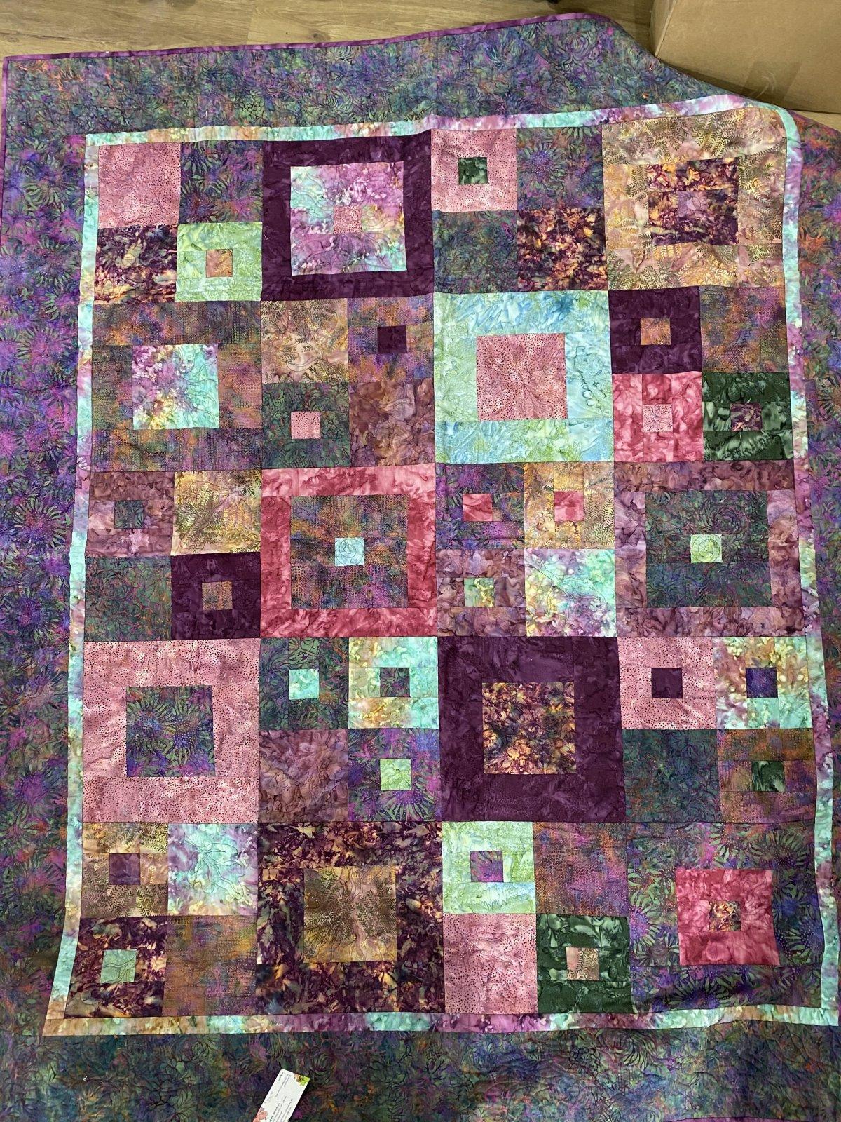Batik Square Quilt