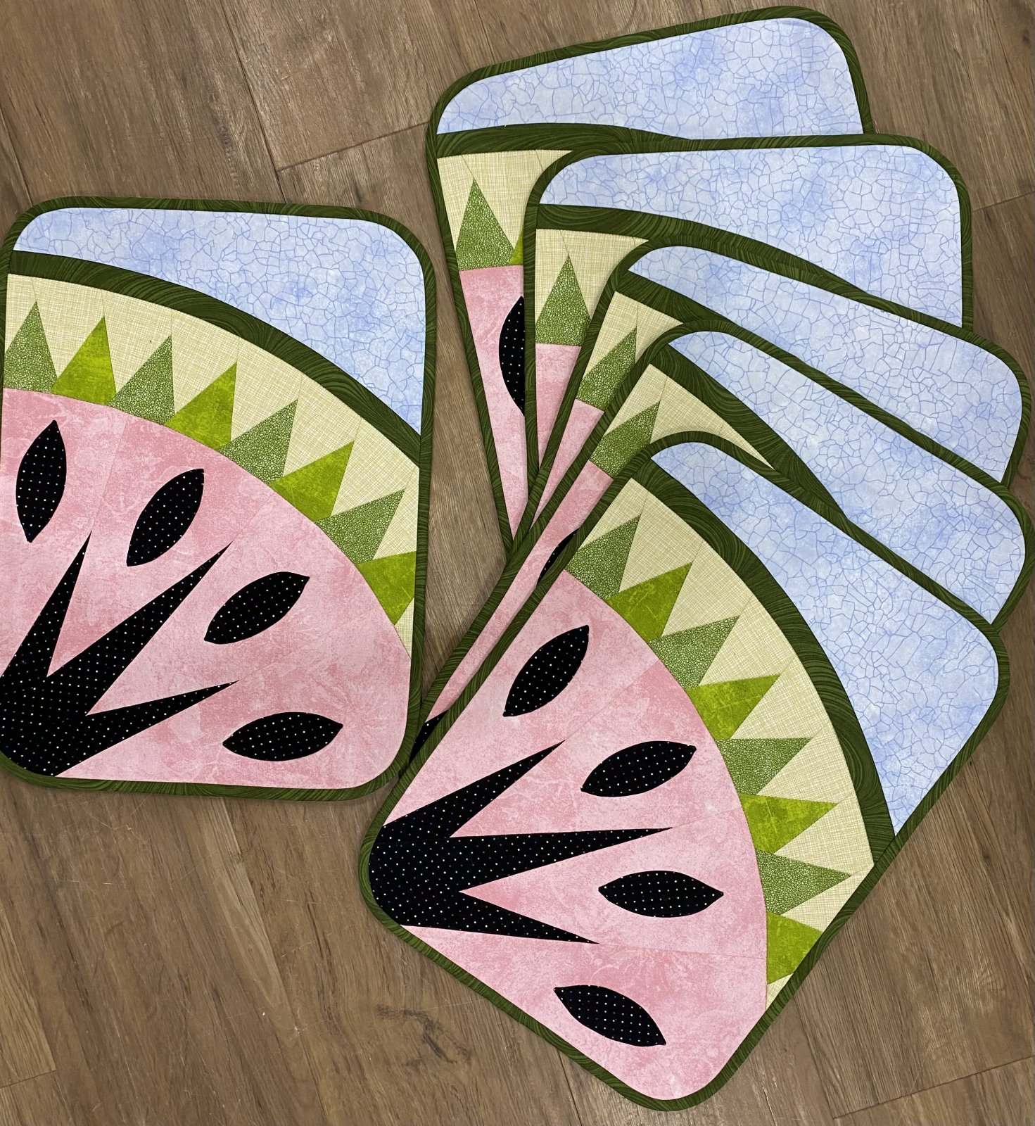 6 Watermelon Placemats