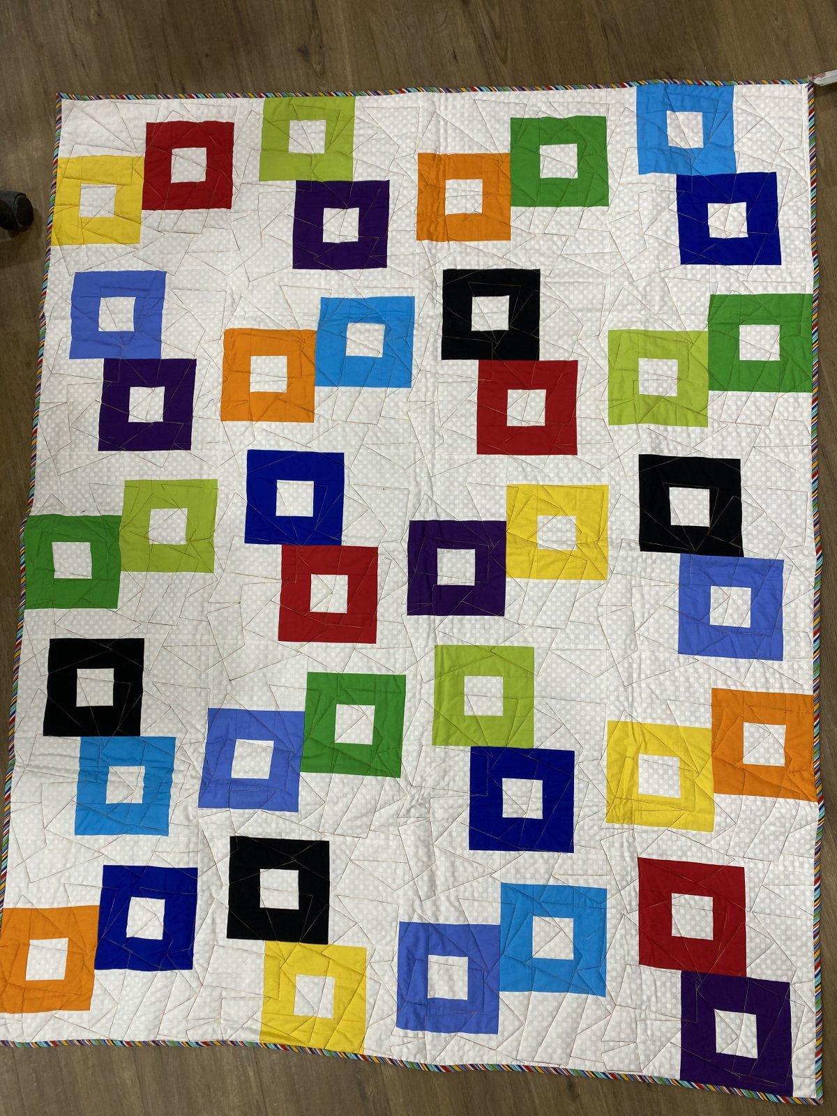 Colourful Square Quilt