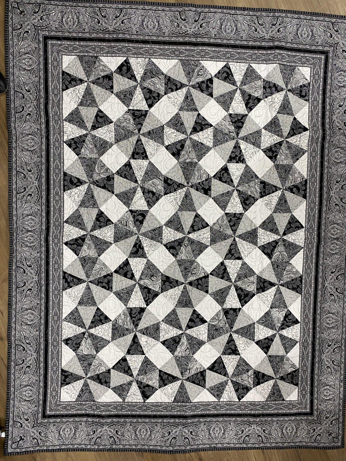 Black Pinwheel Quilt