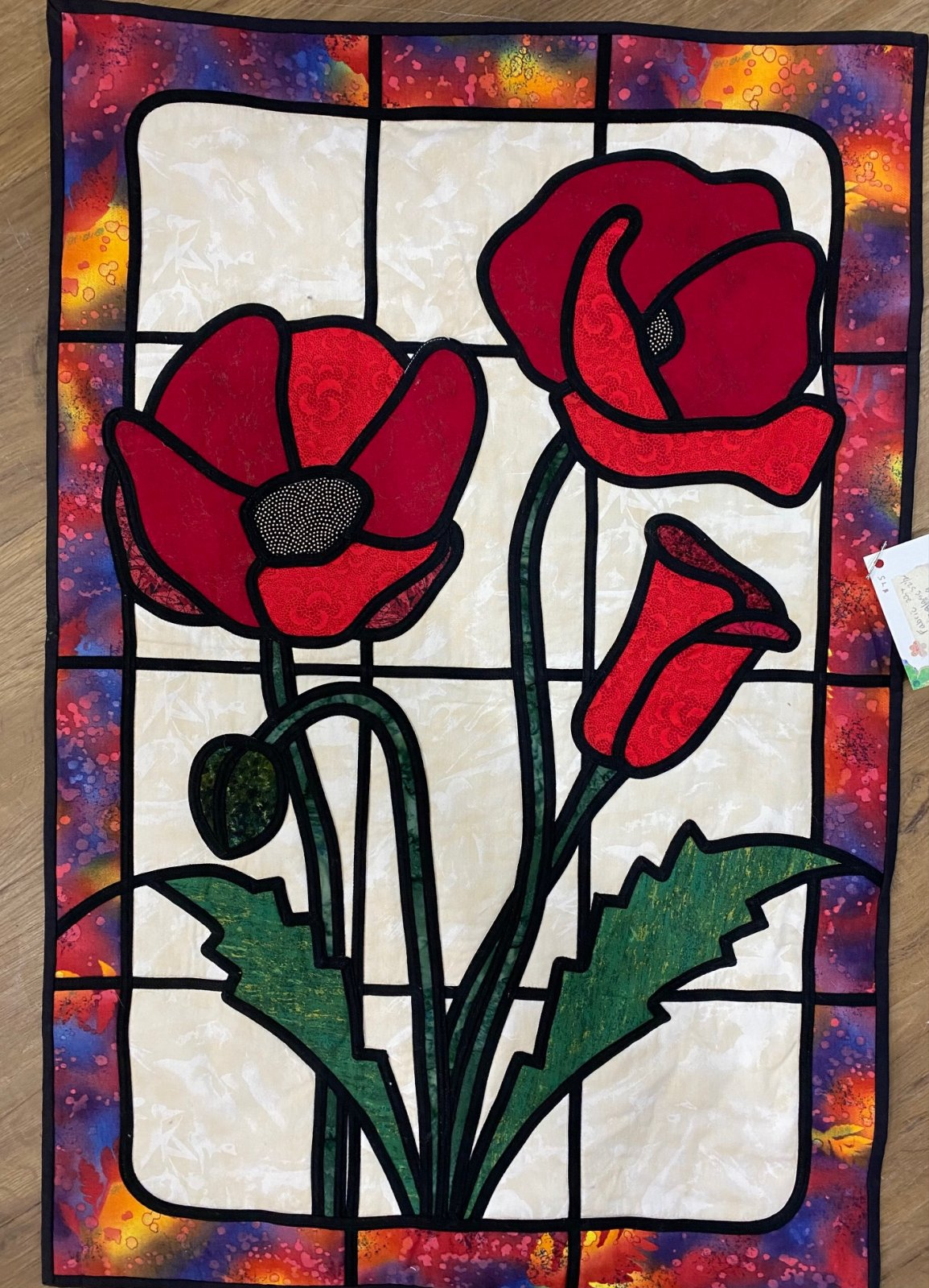 Fabric Stain Glass Wall Hanging