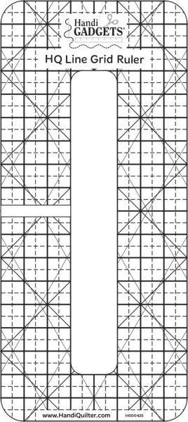 HQ Line Grid Ruler 6 X 1/2
