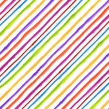 Quirky Bias Stripe White