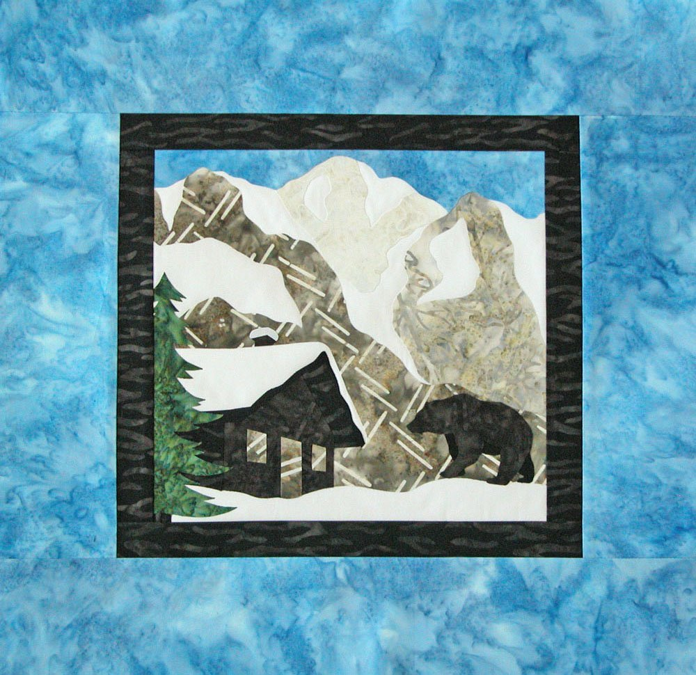 Rocky Mountains Wallhanging 19.5 X 18.5