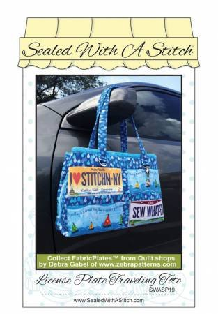 License Plate Traveling Tote Pattern