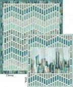 City Scape Quilt 63X74 Brown
