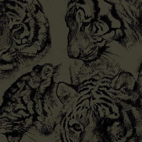 Tiger Kingdom Faces Charcoal