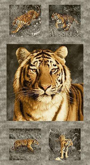 Tiger Kingdom Panel Charcoal