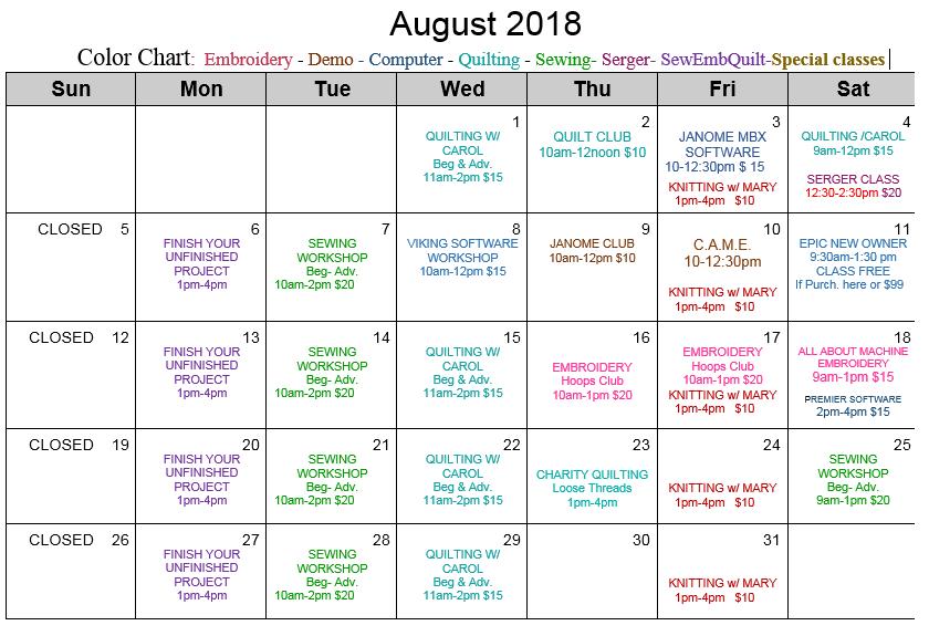 Aug Cal 20181