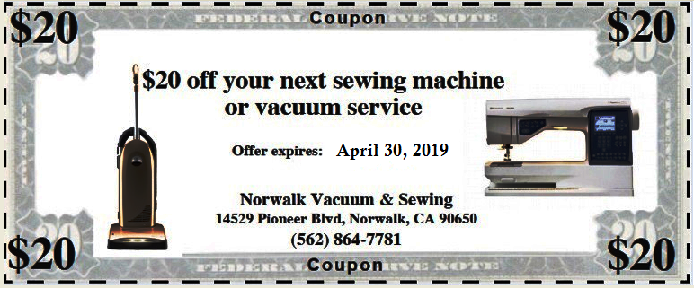 Coupon Vac & Sew