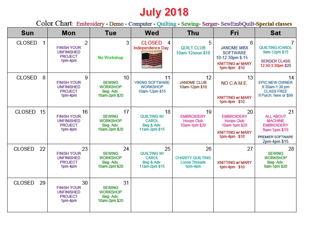 JULY CAL 2018 3