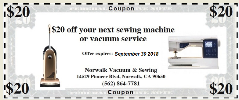 Repair Coupon September 2018