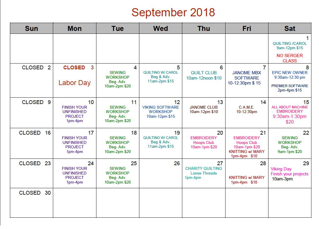 Sept Cal WO 2