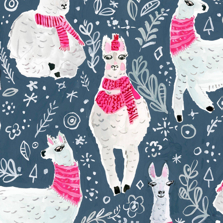 Llamas 1205 Pink Scarves
